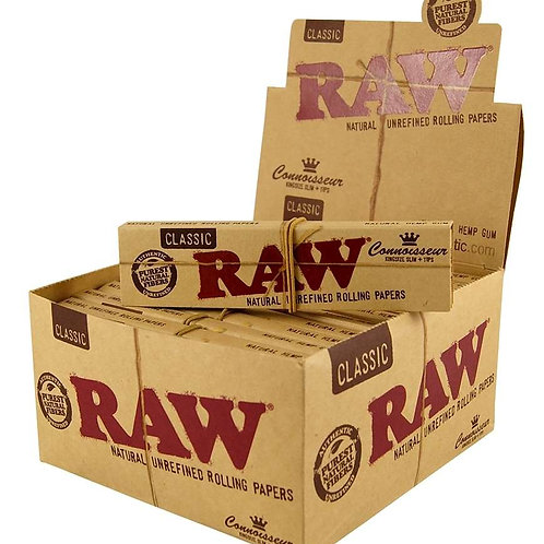 Raw Classic Smoking Paper + Pre Rolled Filter Tips Box