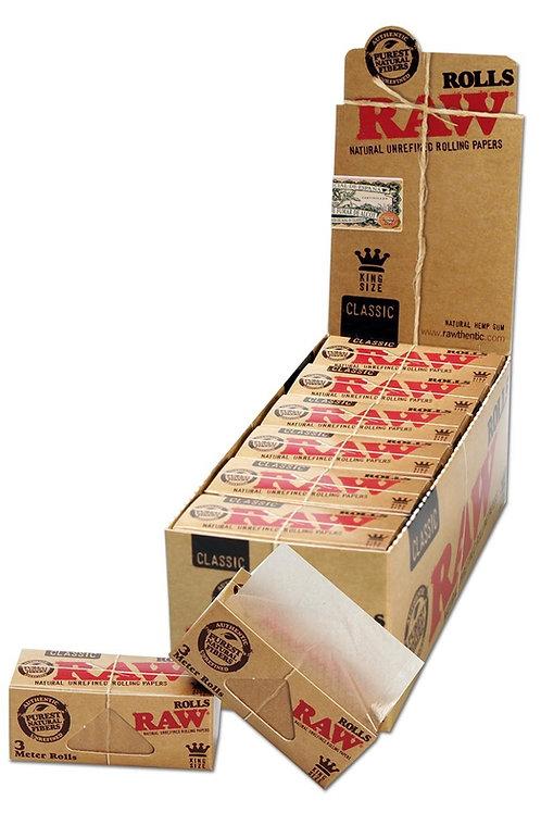 BOX Raw Classic Paper Rolls 3 Meter . 12x