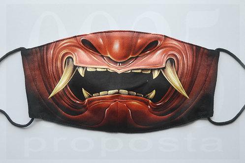 Maske Japanische rote Teufel