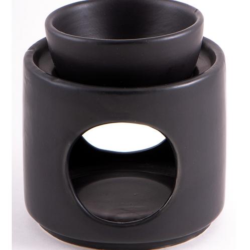 Aromalampe Schwarz Keramik
