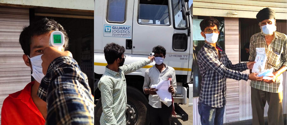 COVID-19 Precautions and Safety Guidelines for Gujarat Logistics Drivers and Helpers (Hindi)