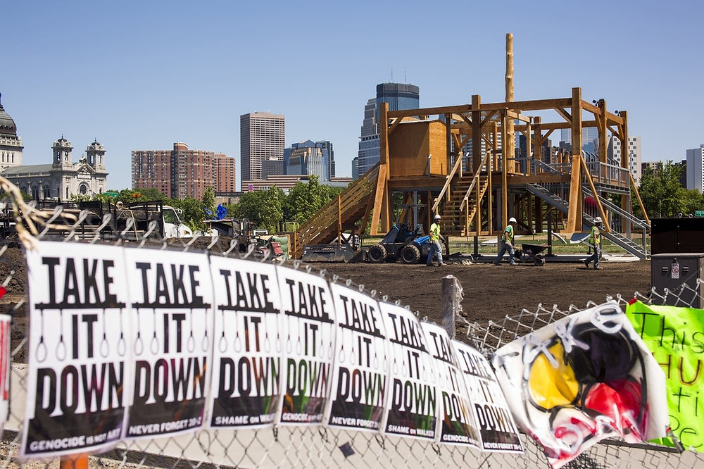 """Scaffold"" sculpture protested in Minneapolis"