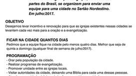 60 Equipes no SERTÃO NORDESTINO!