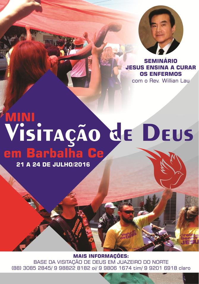 VENHA PARTICIPAR DA VISITAÇÃO DE DEUS EM BARBALHA CE