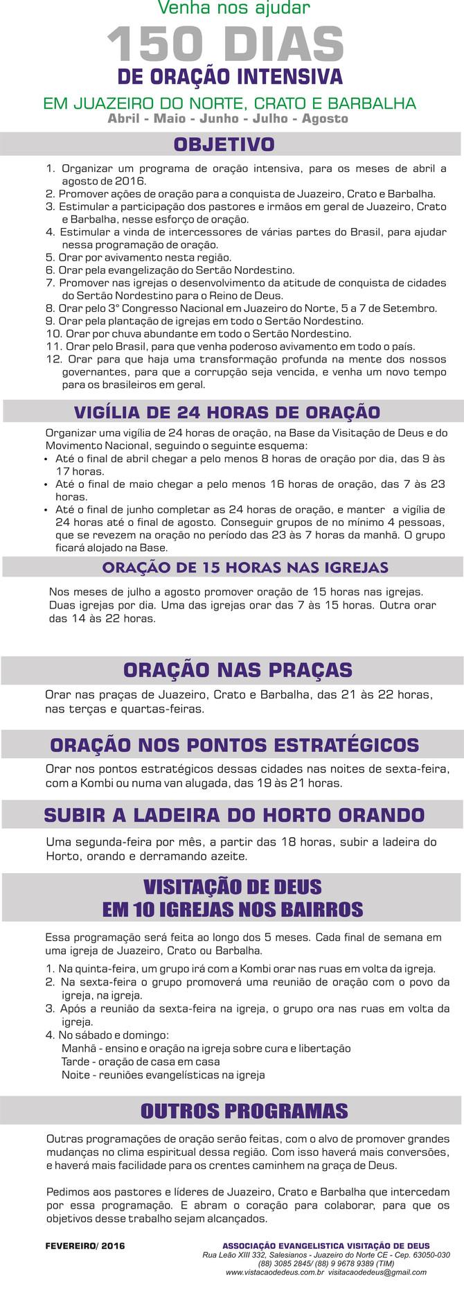 NÃO FIQUE DE FORA! INTERCEDA!