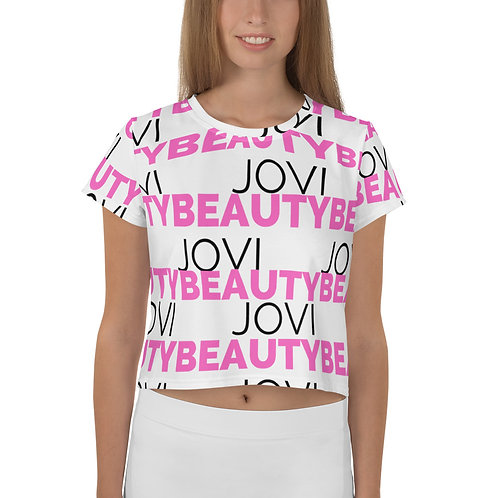 Jovi Beauty All-Over Print Crop Tee