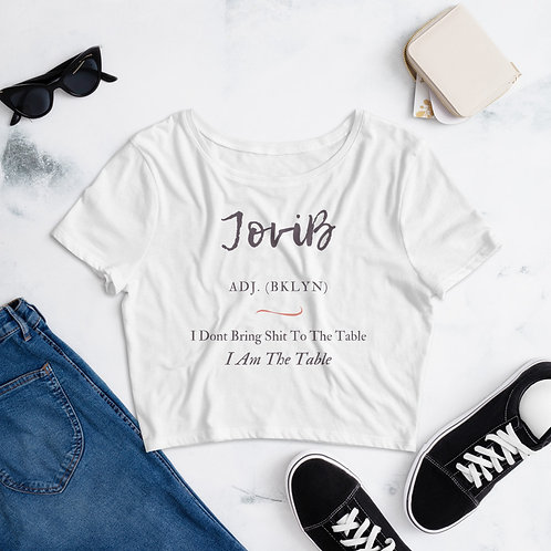 I Am The Table Women's Crop Tee (White)