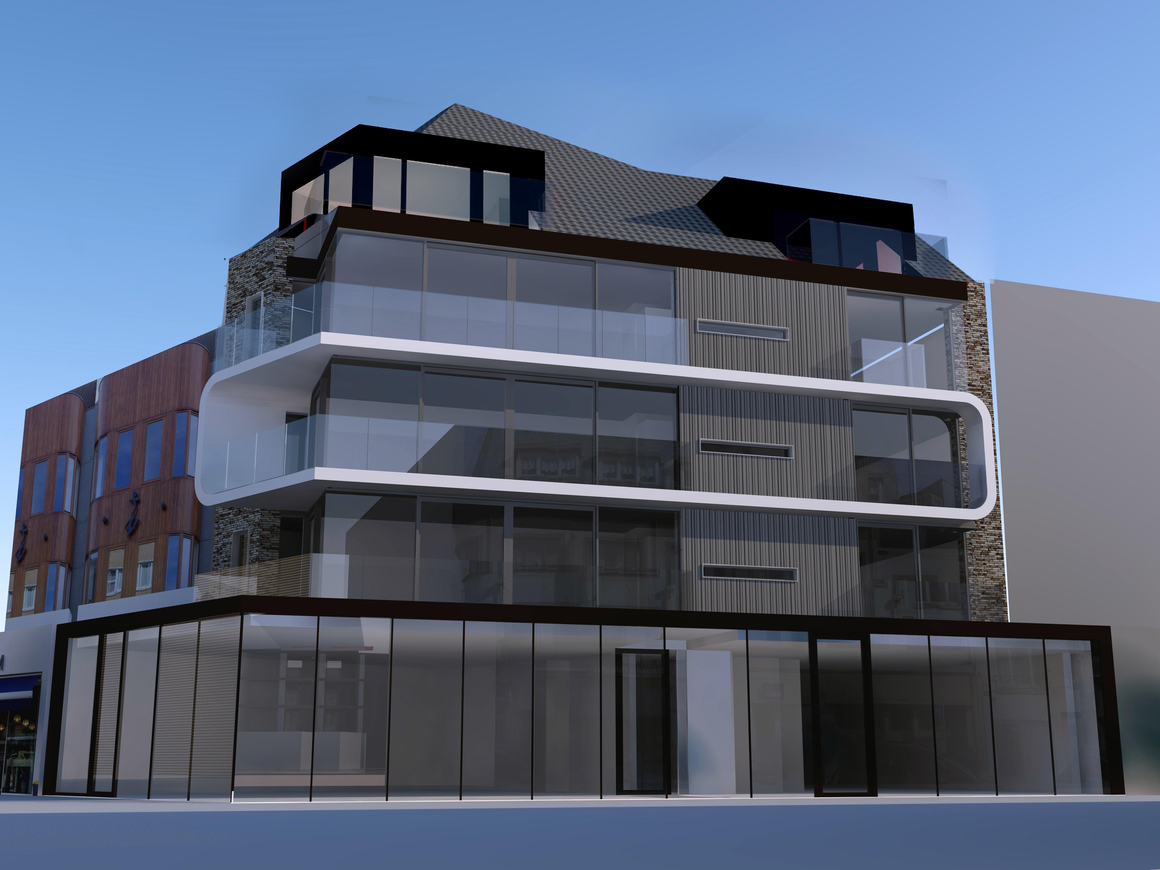 3D nieuw dakverdiep