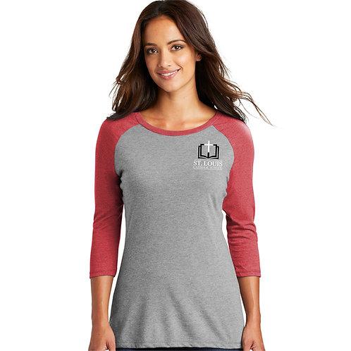 SL-DM136L - Women's 3/4-Sleeve Raglan