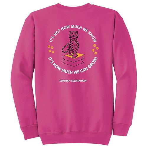SMPC90Y Youth Crew Sweatshirt w/Motto