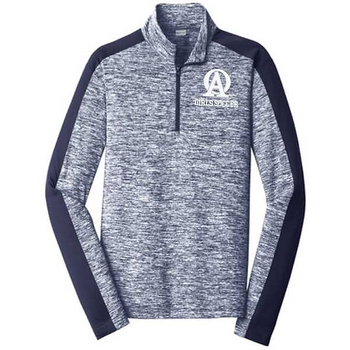 ST397OA Electric Heather 1/4 Zip Pullover