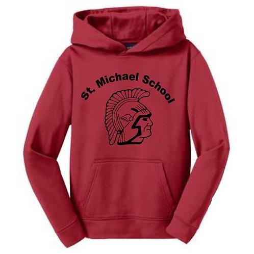 YST244 Youth Fleece Hooded Sweatshirt