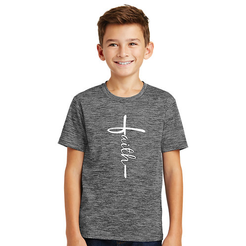 TF-YST390 Youth Electric Heather Tee