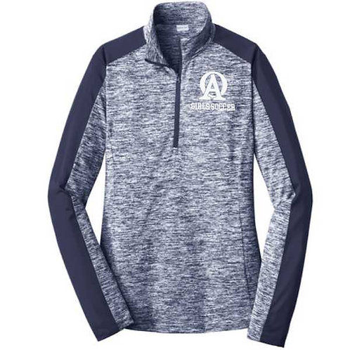 LST397OA Ladies' Electric Heather 1/4 Zip