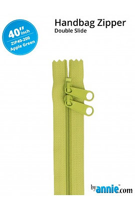 "40"" Handbag Zipper - ByAnnie - Apple Green"