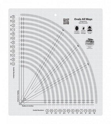 Creative Grids Ovals All Ways Ruler