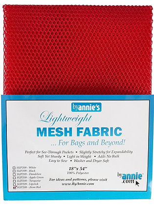 By Annie's Mesh Fabric - Atom Red