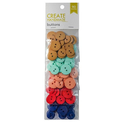 Create Handmade Buttons - 90 Pack -  Beige to Navy