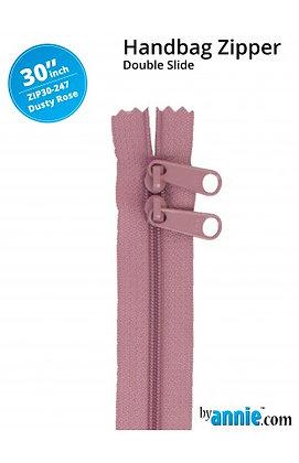 """30"""" Handbag Zipper - ByAnnie -Dusty Rose"""