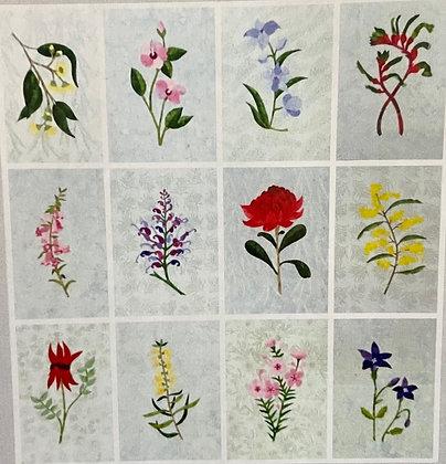 Vintage Australian Floral Emblems Applique Kit