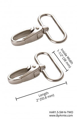 "1.5"" Nickle -  Swivel Snap Hook"