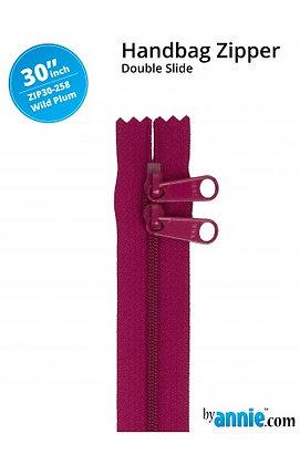 """30"""" Handbag Zipper - ByAnnie - Wild Plum"""