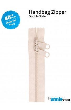 "40"" Handbag Zipper - ByAnnie - Ivory"