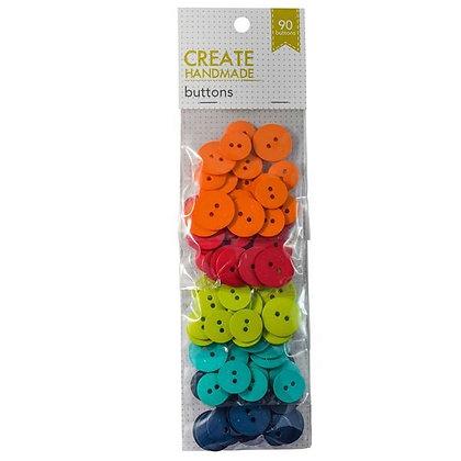 Create Handmade Buttons - 90 Pack -  Orange to Navy