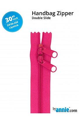 "30"" Handbag Zipper - ByAnnie - Lipstick"