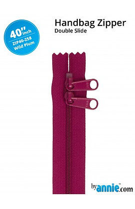 """40"""" Handbag Zipper - ByAnnie - Wild Plum"""