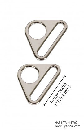 """1"""" Nickle Triangle Ring"""