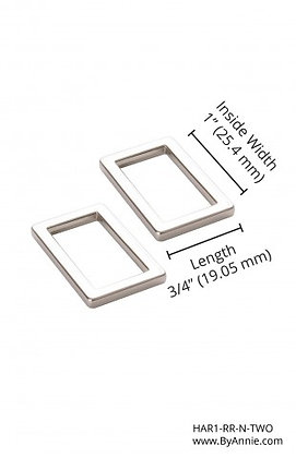 """1"""" Nickle Rectangle Rings Flat"""