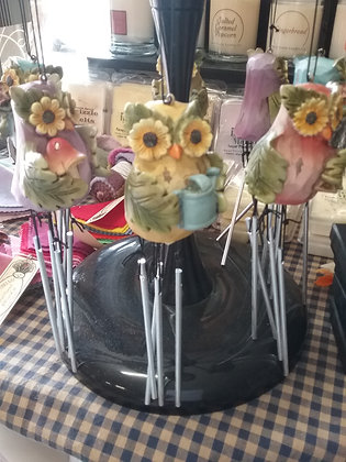 Owl Windchime - Blue