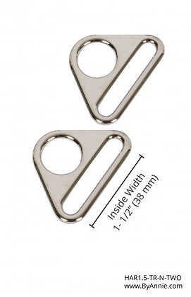 """1.5"""" Nickle Triangle Ring"""