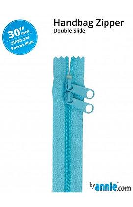"""30"""" Handbag Zipper - ByAnnie - Parrot Blue"""