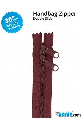 "30"" Handbag Zipper - ByAnnie - Cranberry"