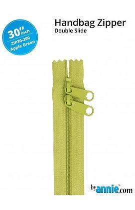 "30"" Handbag Zipper - ByAnnie - Apple Green"