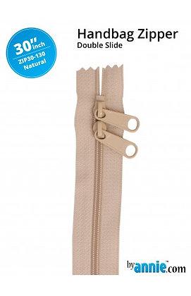 "30"" Handbag Zipper - ByAnnie - Natural"
