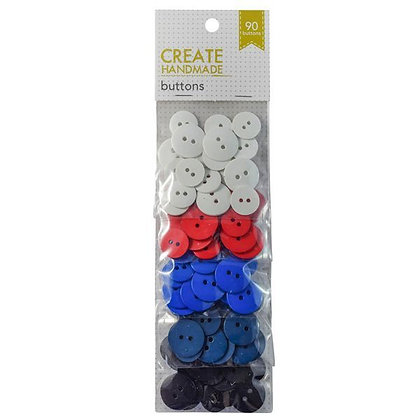 Create Handmade Buttons - 90 Pack -  White to Navy