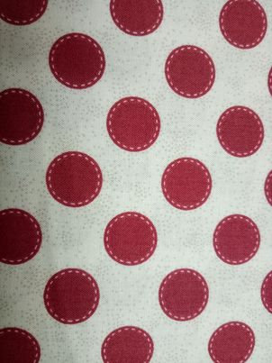 Sewn Spot Carmine Red - 481003