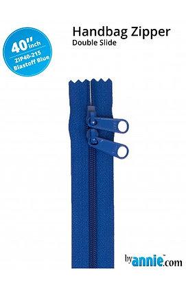 "40"" Handbag Zipper - ByAnnie - Blast Off Blue"