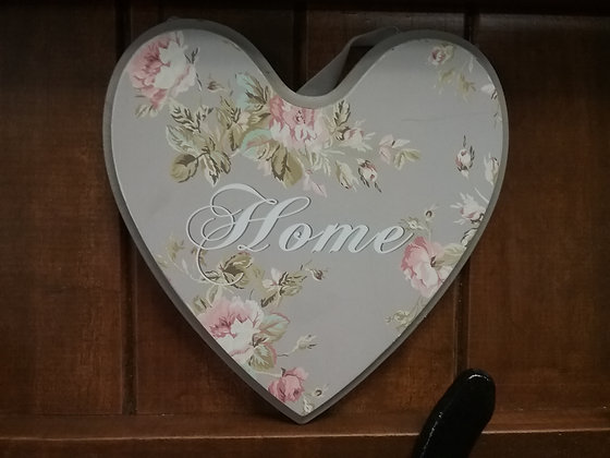 Timber Hanging Heart - Home