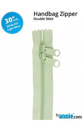 """30"""" Handbag Zipper - ByAnnie - Light Mint"""