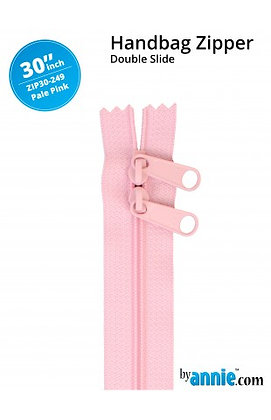 "30"" Handbag Zipper - ByAnnie -Pale Pink"