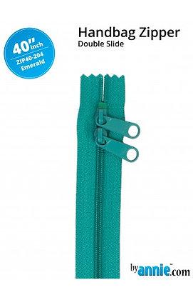 "40"" Handbag Zipper - ByAnnie - Emerald"