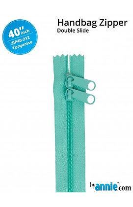 "40"" Handbag Zipper - ByAnnie - Turquoise"