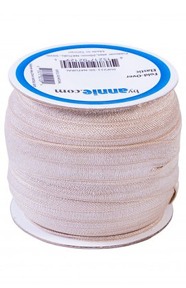Fold Over Elastic - 20mm - ByAnnie - Natural