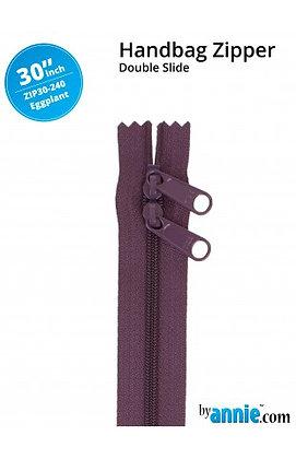 "30"" Handbag Zipper - ByAnnie - Eggplant"