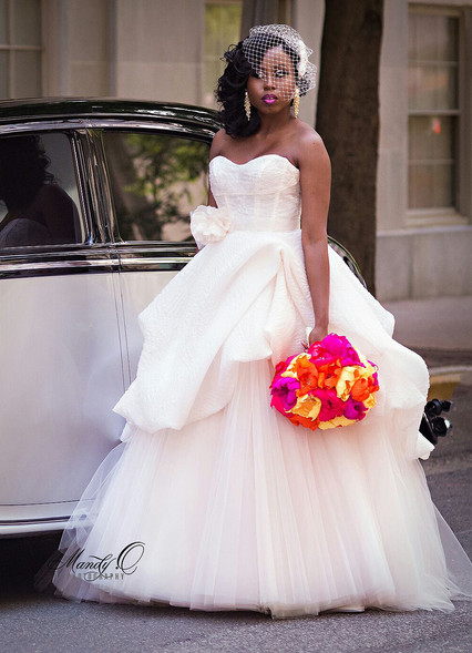 nigerian wedding bride paper florals rad