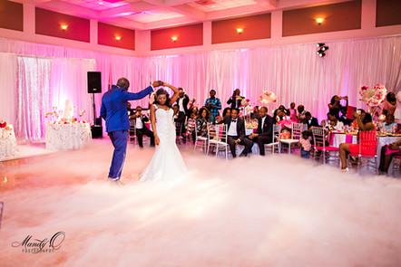 wedding black couple bride groom first d